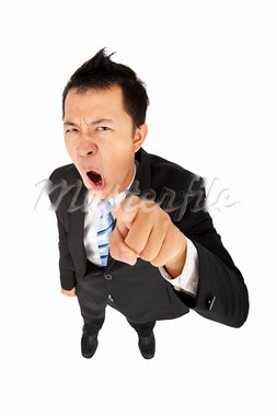 business man shouting and pointing you Stock Photo - Royalty-Free, Artist: tomwang                       , Code: 400-05755416