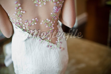 Detail of Back of Bride's Gown Stock Photo - Premium Rights-Managed, Artist: Ikonica, Code: 700-05756381