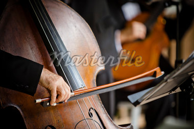 Close-Up of Cellist Stock Photo - Premium Rights-Managed, Artist: Ikonica, Code: 700-05756396