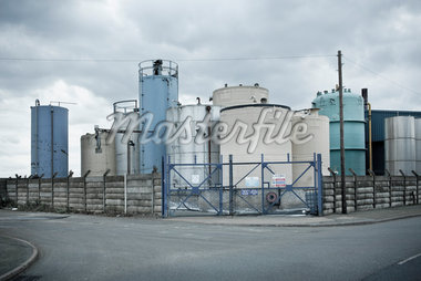 Industrial Storage Tanks, Liverpool, Merseyside, England Stock Photo - Premium Rights-Managed, Artist: oliv, Code: 700-05756503