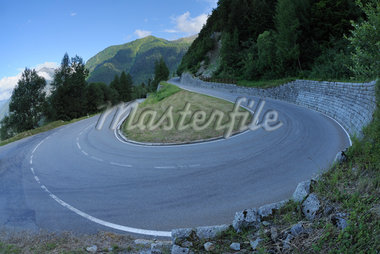 Hairpin Turn, Col de la Forclaz, Martigny, Valais, Switzerland Stock Photo - Premium Royalty-Free, Artist: Martin Ruegner, Code: 600-05762079