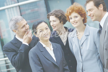 Group of business executives, portrait Stock Photo - Premium Royalty-Freenull, Code: 695-05764591