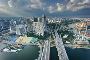 Overview of City, from Marina Bay Sands, Singapore Stock Photo - Premium Rights-Managed, Artist: Tomasz Rossa, Code: 700-05781036