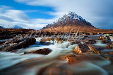 Buachaille Etive Mor and the River Coupall at the head of Glen Etive, Glen Coe end of Rannoch Moor, Highlands, Scotland, Highlands, United Kingdom, Europe Stock Photo - Premium Rights-Managed, Artist: Robert Harding Images, Code: 841-05782369