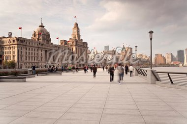 The Bund, Promenade along the Huangpu River, Shanghai, China, Asia Stock Photo - Premium Rights-Managed, Artist: Robert Harding Images, Code: 841-05784814