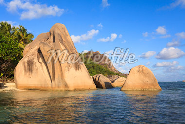 Granite Rock Formations, Anse Source d'Argent, La Digue, Seychelles Stock Photo - Premium Royalty-Free, Artist: F. Lukasseck, Code: 600-05786194