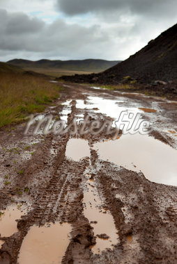 Tire Tracks on Dirt Road, Reykjanes Peninsula, South Iceland, Iceland Stock Photo - Premium Royalty-Free, Artist: Atli Mar Hafsteinsson, Code: 600-05786329