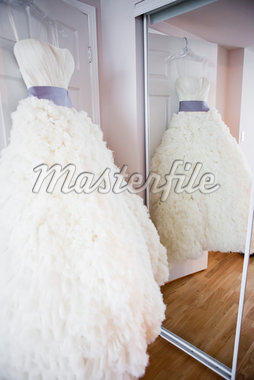 Reflection of Bridal Gown in Mirror Stock Photo - Premium Rights-Managed, Artist: Ikonica, Code: 700-05786438