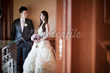 Bride and Groom Indoors Stock Photo - Premium Rights-Managed, Artist: Ikonica, Code: 700-05786463