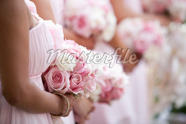 Bridesmaids Standing in Row Stock Photo - Premium Rights-Managed, Artist: Ikonica, Code: 700-05786591