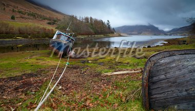 A moody winter morning at Loch Long, Lochalsh, Scotland, United Kingdom, Europe Stock Photo - Premium Rights-Managed, Artist: Robert Harding Images, Code: 841-05796992