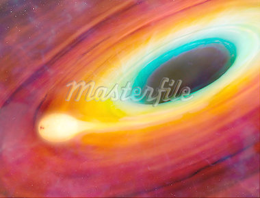 Star distorted by supermassive black hole Stock Photo - Premium Royalty-Freenull, Code: 679-05797973