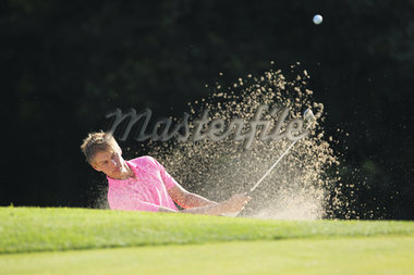 Golfer Swinging Stock Photo - Premium Rights-Managed, Artist: Aflo Sport, Code: 858-05799321