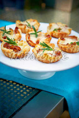 Bacon and Rosemary Tarts, Ontario, Canada Stock Photo - Premium Royalty-Free, Artist: Shannon Ross, Code: 600-05800587