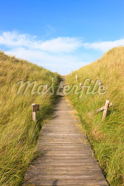 Boardwalk through Grass Covered Dunes, Amrum, Schleswig-Holstein, Germany Stock Photo - Premium Royalty-Free, Artist: F. Lukasseck, Code: 600-05803109