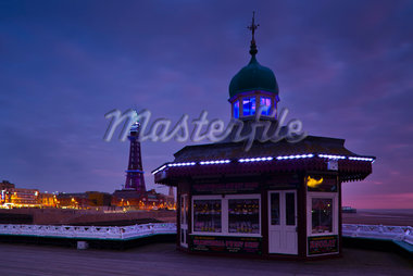 Traditional English Sweet Shop, North Pier, Blackpool, Lancashire, England Stock Photo - Premium Rights-Managed, Artist: Jason Friend, Code: 700-05803172