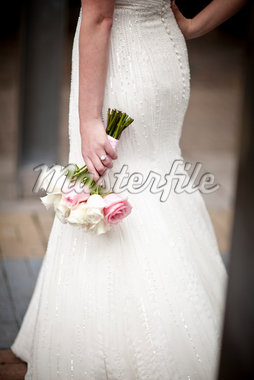 Bride Holding Bouquet Stock Photo - Premium Rights-Managed, Artist: Ikonica, Code: 700-05803344