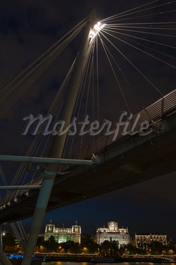 Hungerford Bridge and City at Night, London, England Stock Photo - Premium Rights-Managed, Artist: Siephoto, Code: 700-05803405