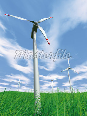 Wind Turbines in Field Stock Photo - Premium Rights-Managed, Artist: Anna Huber, Code: 700-05803432