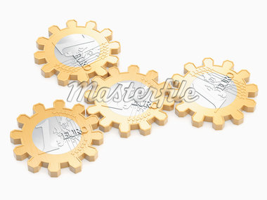 Euros in Shape of Cog Wheels Stock Photo - Premium Rights-Managed, Artist: Anna Huber, Code: 700-05803434