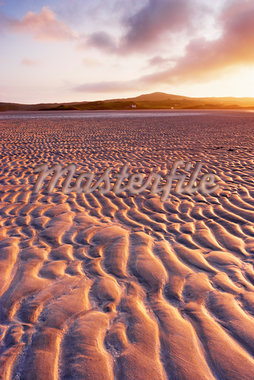 Sand Ripples on Beach at Dawn, Isle of Lewis, Outer Hebrides, Scotland Stock Photo - Premium Royalty-Free, Artist: Tim Hurst, Code: 600-05803603
