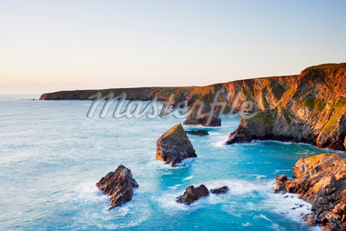 Sea Stacks of Bedruthan Steps, Cornwall, England Stock Photo - Premium Royalty-Free, Artist: Tim Hurst, Code: 600-05803638