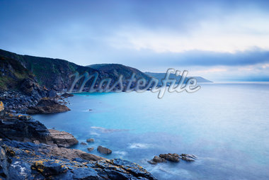Cliffs and Rocky Coastline, Church Cove, Lizard Peninsula, Cornwall, England Stock Photo - Premium Royalty-Free, Artist: Tim Hurst, Code: 600-05803653