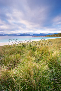 Grass Covered Dunes, Sound of Taransay, Traigh Rosamal, Isle of Harris, Outer Hebrides, Scotland Stock Photo - Premium Royalty-Free, Artist: Tim Hurst, Code: 600-05803671