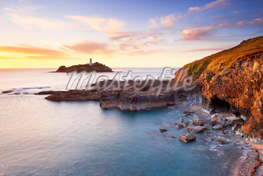 Rocky Coastline and Lighthouse, Godrevy Point, Cornwall, England Stock Photo - Premium Rights-Managed, Artist: Tim Hurst, Code: 700-05803734
