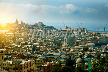 Aerial view of coastal city Stock Photo - Premium Royalty-Freenull, Code: 649-05821691