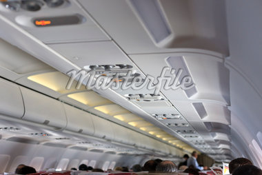 Interior of Airplane Stock Photo - Premium Rights-Managed, Artist: Jean-Yves Bruel, Code: 700-05821829
