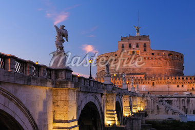 Castel Sant'Angelo and Ponte Sant'Angelo, Rome, Lazio, Italy Stock Photo - Premium Rights-Managed, Artist: Martin Ruegner, Code: 700-05821960