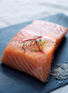 Raw piece of salmon Stock Photo - Premium Rights-Managed, Artist: Photocuisine, Code: 825-05835860