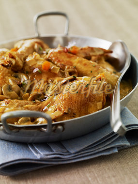 Valle d'Auge chicken Stock Photo - Premium Rights-Managed, Artist: Photocuisine, Code: 825-05836778
