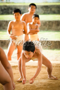 Young Sumo Wrestlers, Tokunoshima, Kagoshima Prefecture, Japan Stock Photo - Premium Rights-Managed, Artist: R. Ian Lloyd, Code: 700-05837418
