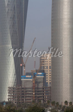 New skyscraper under construction, Doha. Stock Photo - Premium Rights-Managed, Artist: Arcaid, Code: 845-05838359