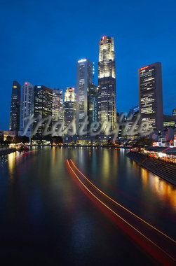 Skyscrapers in Central Business District at dusk, Singapore, Southeast Asia, Asia Stock Photo - Premium Rights-Managed, Artist: Robert Harding Images, Code: 841-05846483