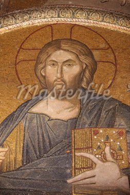 Jesus Pantocrator mosaic, Chora Church Museum, Istanbul, Turkey, Europe Stock Photo - Premium Rights-Managed, Artist: Robert Harding Images, Code: 841-05846927