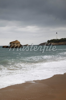 Lighthouse and Stormy Sea, Biarritz, Pyrenees-Atlantiques, France Stock Photo - Premium Rights-Managed, Artist: photo division, Code: 700-05854191
