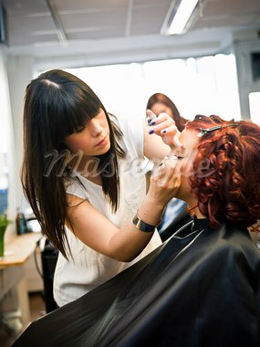 Make-up situation in a Beauty spa Stock Photo - Royalty-Free, Artist: gemenacom                     , Code: 400-05876556