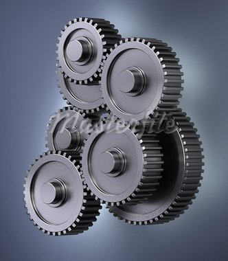 A bunch of gear wheels symbolizing accuracy Stock Photo - Royalty-Free, Artist: badboo                        , Code: 400-05876673