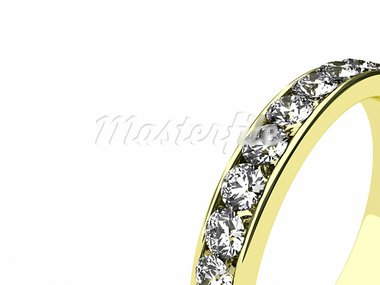 Illustration of a gold ring with many brilliants Stock Photo - Royalty-Free, Artist: FotoVika                      , Code: 400-05878014