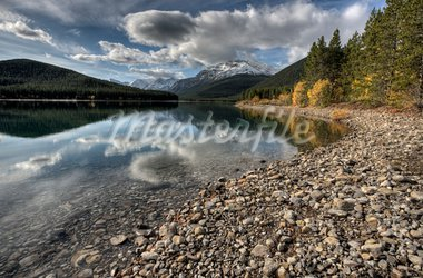 Rocky Mountains Kananaskis Alberta Canada in the Autumn Fall Stock Photo - Royalty-Free, Artist: pictureguy                    , Code: 400-05880058