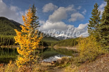 Rocky Mountains Kananaskis Alberta Canada in the Autumn Fall Stock Photo - Royalty-Free, Artist: pictureguy                    , Code: 400-05880060