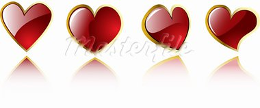vector valentine's hearts  eps 8 Stock Photo - Royalty-Free, Artist: sdmix                         , Code: 400-05880812
