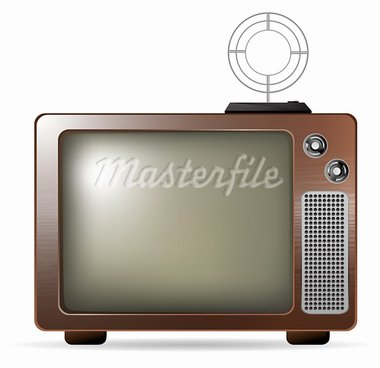 Retro TV with antenna vector eps10 illustration Stock Photo - Royalty-Free, Artist: BooblGum                      , Code: 400-05882208