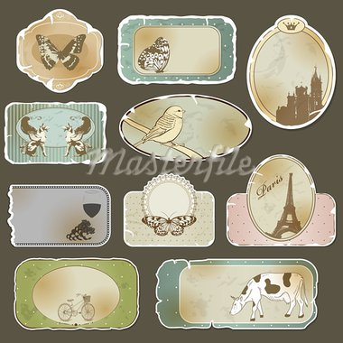 Vintage label set Stock Photo - Royalty-Free, Artist: 578foot                       , Code: 400-05883636