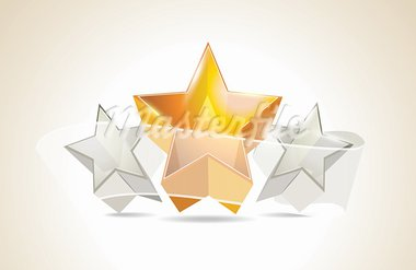 Abstract Colorful Background with 3d glass stars. Vector. Stock Photo - Royalty-Free, Artist: 25081972                      , Code: 400-05887710
