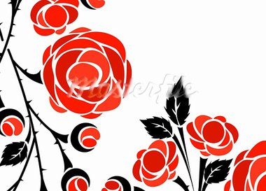 floral background Stock Photo - Royalty-Free, Artist: Sergio77                      , Code: 400-05888464