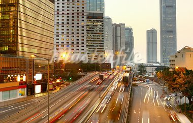 Highway with lots of cars. Stock Photo - Royalty-Free, Artist: cozyta                        , Code: 400-05889584